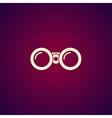 Binocular icon Flat design style vector image vector image