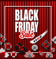 black friday sale banner with different gift vector image vector image