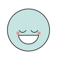 blue silhouette happy face male emoticon with eyes vector image