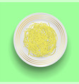 boiled floury product spaghetti vector image vector image