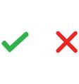 check mark and wrong mark icon vector image vector image