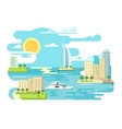 City beach design flat vector image vector image