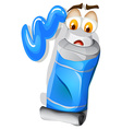 Color blue with sad face vector image vector image