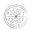 delicious pizza isolated icon vector image
