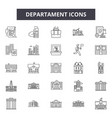 departament line icons signs set outline vector image vector image