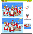 differences game with santa claus christmas vector image vector image