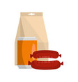 dinner icon flat style vector image vector image