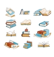 Doodle books hand drawn novel encyclopedia vector image vector image
