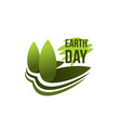 earth day planet ecology conservation icon vector image vector image