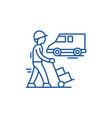 express logistics line icon concept express vector image vector image