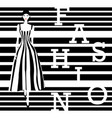 fashion model black and white stripes vector image vector image