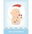 funny christmas baboy vector image