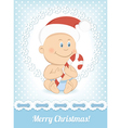 Funny Christmas baby boy vector image vector image