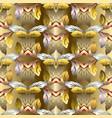 gold barogue vintage 3d seamless pattern vector image vector image