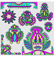 hand draw flowers design elements vector image vector image