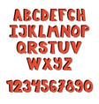 hand drawn font school english alphabet vector image vector image