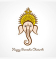 happy ganesh chaturthi festival background vector image vector image