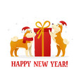 happy new year 2018 postcard template with two vector image vector image