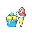 ice cream to go rgb color icon vector image vector image