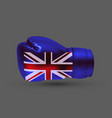 isolated boxing glove united kingdom flag vector image