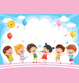 kids background vector image vector image