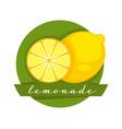 lemonade label with lemon cut in half product