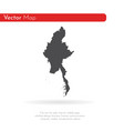 map myanmar isolated black vector image