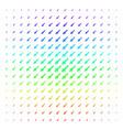 missile launch shape halftone spectrum effect vector image vector image