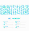 mri diagnostics concept with thin line icons vector image vector image