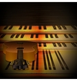 musical background piano keys and guitar uno vector image vector image