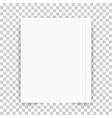 paper sheet a school notebook on a transparent vector image vector image