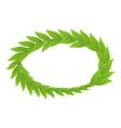 plant wreath icon isometric style vector image vector image