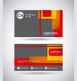 presentation card design vector image