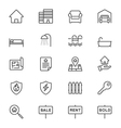 Real estate thin icons vector image vector image
