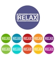 Relax flat icon vector image vector image