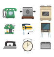 retro vintage household appliances vector image vector image