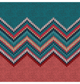 Seamless knitting pattern with wave ornament vector image vector image