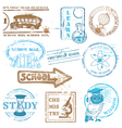 Set of SCHOOL stamps vector image vector image