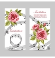 Set of wedding invitation cards design vector image vector image