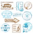 set school stamps vector image vector image