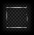silver glowing frame vector image vector image