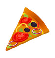 slice of pizza vegetarian pizza fresh vegetables vector image vector image