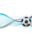 soccer ball design element abstract background vector image vector image