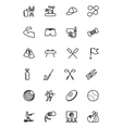 Sports Line Icons 6 vector image vector image