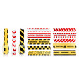 sticky caution adhesive tapes realistic icon set vector image