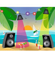 summer party with on the beach vector image vector image
