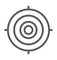 target line icon focus and goal aim sign vector image vector image