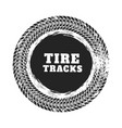tire track circle background design vector image