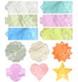 twelve crumple labels vector image vector image
