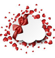 valentine s background with hearts and bow vector image vector image